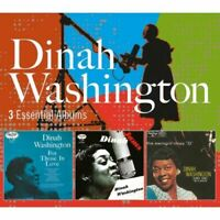 DINAH WASHINGTON 3 Essential Albums 3CD NEW For Those In Love/Jams/The Swingin'