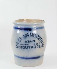 pot en grès bleu Veuve Ch. VANDOEREN WEMMEL Moutarde