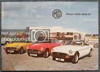 MG MGB Midget MGB GT Car Sales Brochure Sept 1979 #3264/F