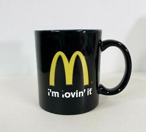 "McDonalds Golden Arches Logo ""I'm Lovin' It"" Black Ceramic Tea Coffee Mug Cup"