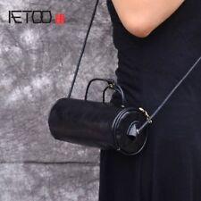 Mini Barrel Bag Messenger Cylindrical Bag Leather Portable Womens Handbag Small