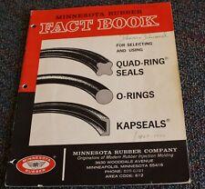 Minnesota Rubber Fact Book Quad-ring Seals, O-rings, Kapseals Engineering Design