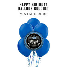 Party Supplies Birthday Decorations Vintage Dude 40th Foil Bouquet Balloons