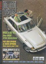 RETROVISEUR n°117 05/1998 MGC & GT V8 BUGATTI 57C ALFA 2000 FORD CAPRI ARONDE