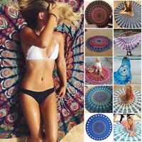 NEU Mandala Hippie Strandtuch Yoga Matte Rund Wandbehang Tapisserie Boho BEAUTY