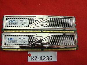 2 GB (2 x 1GB) DDR2-RAM PC2-6400U CL4 Platinum Revision 2 'OCZ OCZ2P800R22GK'
