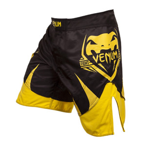 shorts mma Venum Shogun Signature Black/Yellow Grappling MMA BJJ UFC