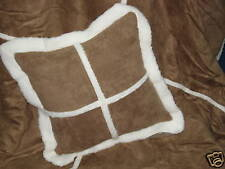 NEW Luxury Soft Faux Fur Suede / Sheepskin Scatter Modern Large Cushion Cover
