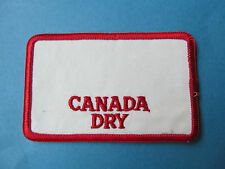 Rare Vintage 1970's Canada Dry Employee Uniform Work Shirt Hat Jacket Patch A