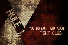 A4 Poster-la prima regola circa Fight Club (Blu-Ray DVD PICTURE MOVIE FILM ART)