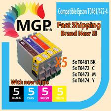 20x INK Cartridge T0461 T0472-4 For Epson Stylus C63 C65 CX3500 CX6500 C83