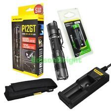 NITECORE P12GT CREE LED 1000 Lumen tactical flashlight wi/ battery& i1 charger