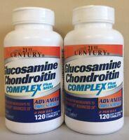 2 Packs 21st Century Glucosamine Chondroitin Complex Compare Osteo Bi-Flex