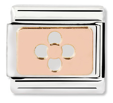GENUINE Nomination Classic Rose Gold Cut Out Flower Charm 430101/19 / £18 RRP