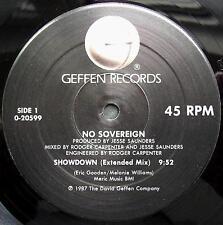 """No Sovereign - Showdown 12"""" Mint- 0-20599 Vinyl 1987 Record"""
