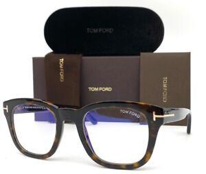 Tom Ford FT5542B 052 Havana  / Blue Block 50mm Eyeglasses TF5542B