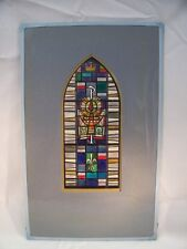 Stained Glass Christian Greek Lettering Ink Piece by C. Schattauer Kelm