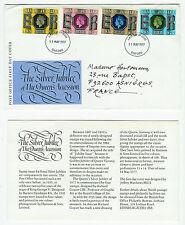 ENVELOPPE 1er JOUR 11.05.1977 = THE SILVER JUBILEE OF THE QUEEN ELIZABETH II