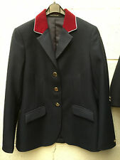 "R H Mears 32""  Show Jacket Navy Red Velvet with Pale Blue Trim"