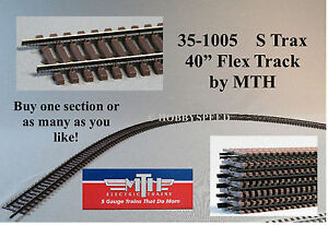 "MTH 40"" FLEX TRACK S GAUGE train track metal 155# Code 125 Solid Nickel 35-1005"