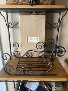 Longaberger 2014 Wrought Iron Sleigh  NEW IN THE BOX Hard To Find!