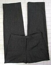 JM Collection Petites Dress Pants Size 4 Black Gray Plaid Trousers Womens