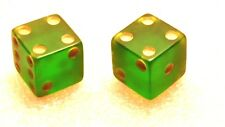 Vintage 1950's Pair of Bakelite Lucite or Celluloid Apple Green Dice