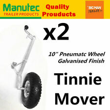 2x Manutec Pneumatic Boat Jockey Tinnie Wheels Dolly Dinghy Wheel Galvanised