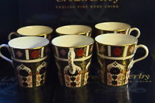 New Royal Crown Derby 2nd Quality Old Imari 1128 Set of 6 x Mugs
