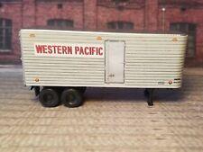HO Scale. Custom designed Western Pacific 30' Piggyback trailer. 1