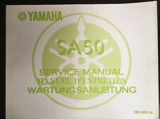 Yamaha SA50 Dealer Service Manual 1980 Original 1st Edition Ref 3W9-28197-80