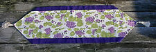 """Floral Table Runner 100% Cotton Fabric New Handmade 13.5"""" x 48"""" Rayon Tassels"""