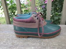 Vintage Rubber Ankle Boots 8 M Thermolite Color Block North Woods Duck