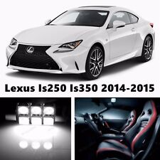 15pcs LED Xenon Whit Light Interior Package Kit for Lexus Is250 Is350 2014-2015