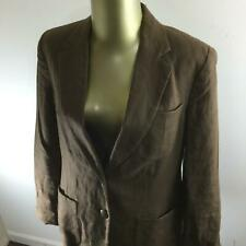 RALPH LAUREN Button Front Brown Linen Blazer Sport Coat w/ Lining Women's Size 6