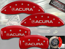"2007-2008 ""Acura"" TL Type S Front + Rear Red MGP Brake Disc Caliper Covers"