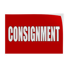 Decal Stickers Consignment Store Thrift Vinyl Sign Label Restaurant Amp Food