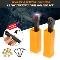 Lathe Turning Tool Holder Right+Left 10x WNMG0804 Insert Blades Lathe Tool 2P