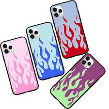 Pink Flames Silicone phone case for iphone 11 Pro Max XS XR X 6 6s 7 8+ SE 2020