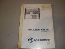Marposs E14 Instruction Manual