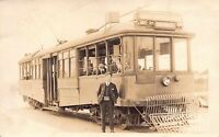 CA 1910's REAL PHOTO California Trolley Grand Ave Exposition Park Los Angeles