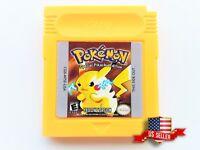 Pokemon Yellow Pikachu Edition Nintendo Game Boy GB GBC GBA (US Seller) Repro
