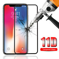 iPhone X XR XS Max 11D Full Protective Tempered Glass Screen Protector Film