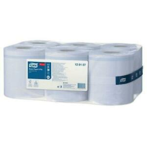 6 x Tork Basic Paper Centrefeed Blue Towel Rolls for M2 System 6x150m 2-PLY