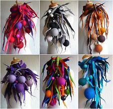 Felted Sciarpa di lana, Collana, Lariat, fatti a mano, Lagenlook da infeltriti a mano arte da indossare