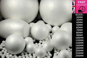 Polystyrene Ball **ALL SIZES** 20MM to 290MM Available FAST&FREE UK Stock