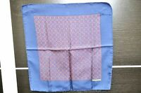 Authentic HERMES Scarf Handkerchief Geometric Pattern Silk Navy A0581