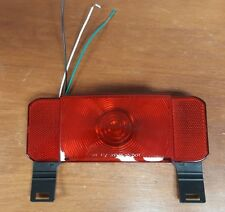 RV Tail Light -Stop,Tail,Turn,License Plate - Red Lens - Driver - Black Base