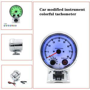 12V Car Tachometer Gauge Tachometer Retrofit Seven colors colorful tachometer