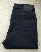 Mens Lee Rider Slim Narrow Black Denim Jeans W 33 L 29